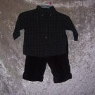 Boys 3-6 month Gymboree shirt, pants, and shoes set