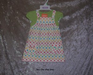 Girls 18 month Carter's 2 piece dress set - NWT