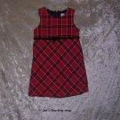 Girls 3T Old Navy Red and Black Plaid sleeveless dress