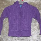 Girls 3T The Children's Place purple hooded sweater