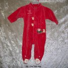 Girls 3-6 month Babyworks Christmas footed sleeper
