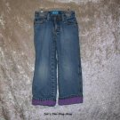 Girls 4T The Children's Place purple lined jeans