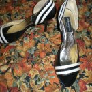 Womens Black with White Trim Shoes Size 7