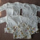 Baby Infant Lot of 5 Onsies Long Sleeve Size 0-3M