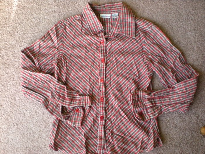 Girls Limited Too Red Long Sleeve Shirt Size 12