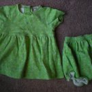 Carter's Girls Green Dress Outfit Size 3-6M