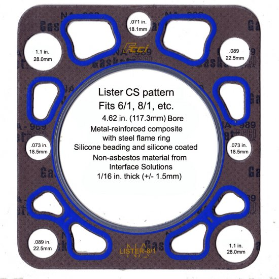 Lister CS Pattern Head Gasket