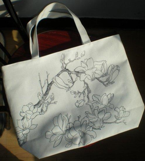 handpainted Canvas handbag