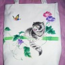 handpainted Canvas handbag