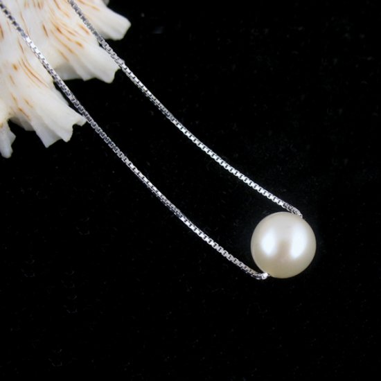genuine fresh pearl silver necklace �16