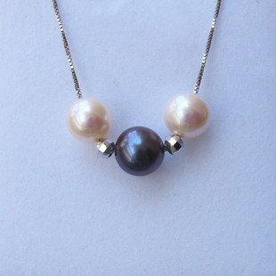 genuine fresh pearl silver necklace  �18