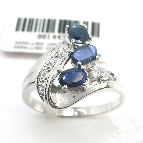natural sapphire silver ring �20
