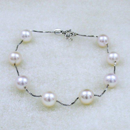 genuine fresh pearl silver bracelet  �13