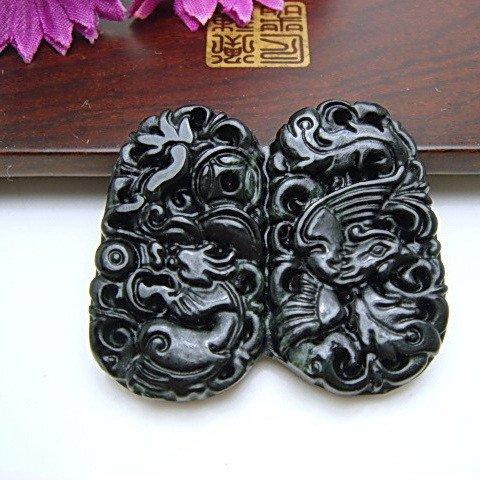 natural black jade   pendant  �10