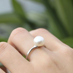 Complimentary Gift::a 18KGP genuine freshwater pearl ring