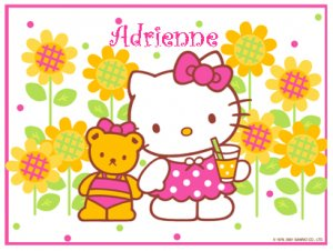 Hello Kitty- Personalized Notecards with Envelopes (10) (a)
