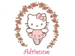 Hello Kitty- Personalized Notecards with Envelopes (10) (d)
