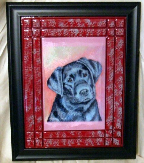 Black Labrador Retriever 8x10 Tile