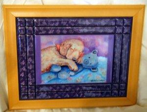 Golden Retriever Puppy 10x13 Tile Picture