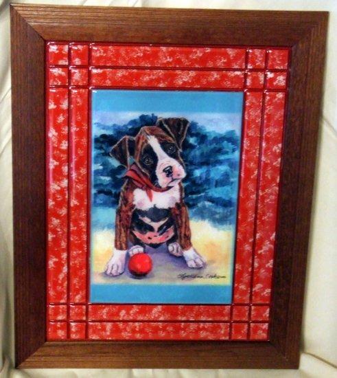 Boxer Puppy 10x13 Tile Picture