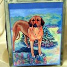 Rhodesian Ridgeback 6x8 Glass Block
