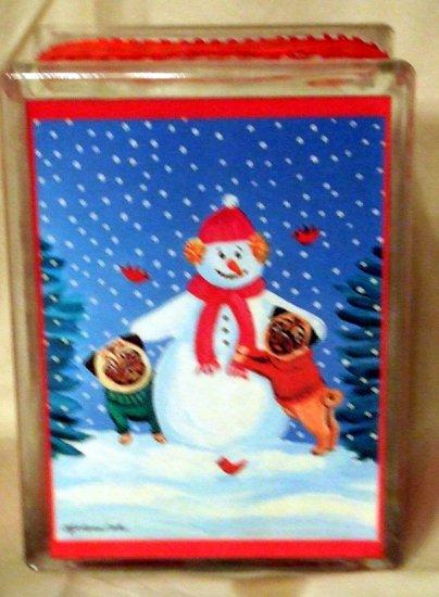 Pug Christmas Block 6x8
