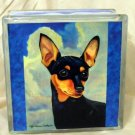 Miniature Pinscher 8x8 Glass Block Light