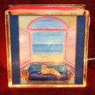 "Golden Retriever 8""x8"" Glass Block Light"