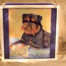 "Brussels Griffon 8""x8"" Glass Block Light"