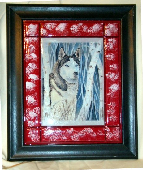 "Siberian Husky 8""x10"" Tile Picture"