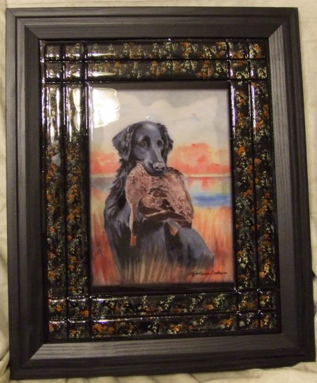"""Flat-Coated Retriever 11""""x14"""" Tile Picture"""