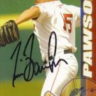Tim Bausher Autographed Red Sox Card