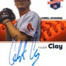 Caleb Clay Autographed Red Sox Card