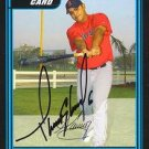 Tony Granadillo Autographed Red Sox Card