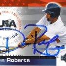 Dave Roberts Autographed USA Card