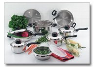 ForeverWareTM 15pc 9-ply Stainless Steel Cookware (KT915)