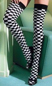 Stockings Checkered Flag ( OS ) Costume Accessory ~igemini.net~
