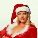 Genuine Fur Santa Hat Velvet ( O/S ) Adult Costume ~igemini.net~