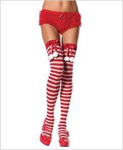 Stockings Santa Pom-Poms and Stripes Costume ( OS ) ~igemini.net~