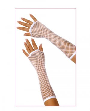 Gloves Long Fishnet ( O/S ) Costume Accessory ~igemini.net~