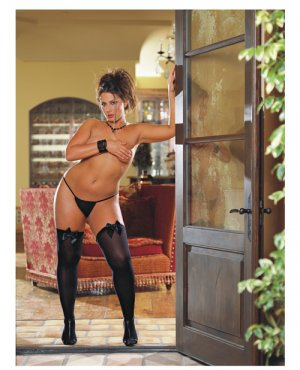 Stockings Opaque Thigh Highs with Bows ( Plus Size ) ~igemini.net~