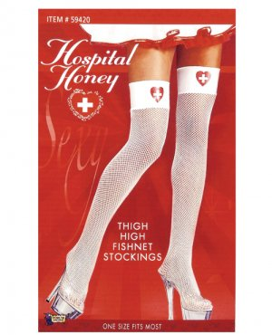 Nurse Thigh High Fishnet Stockings ( OS ) Costume Accessories ~igemini.net~