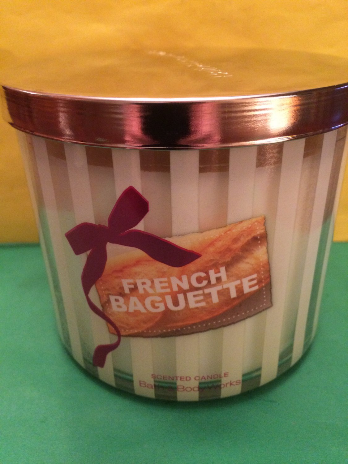 Bath Amp Body Works French Baguette Candle 3 Wick Large