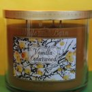 Bath & Body Works Vanilla Cedarwood Candle 3 Wick Large