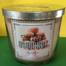 Bath & Body Works Cinnamon Sugared Doughnut 3 Wick 14.5 oz Large