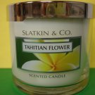 Bath & Body Works Slatkin Tahitian Flower Candle 4 oz