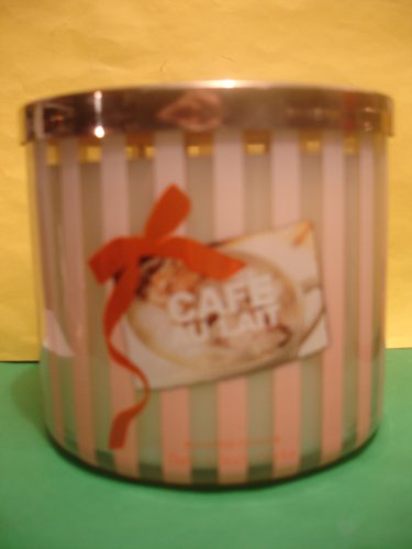 Bath & Body Works Cafe Au Lait Candle 3 Wick Large