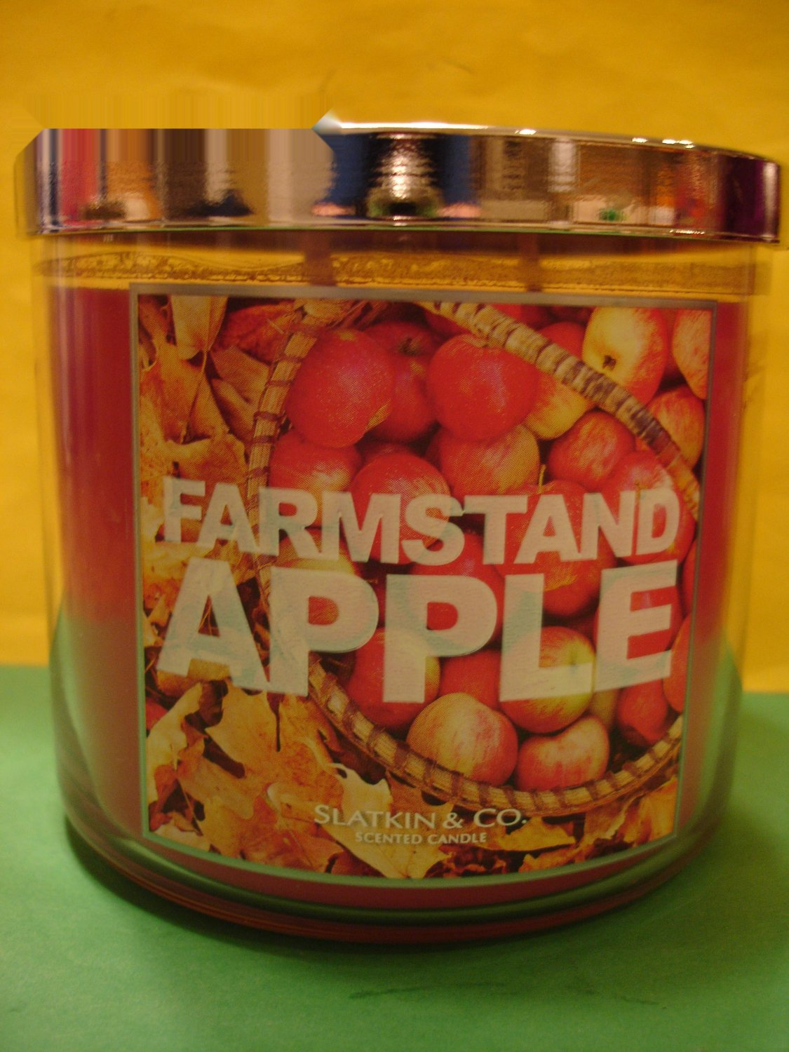 bath body works farmstand apple candle 3 wick large. Black Bedroom Furniture Sets. Home Design Ideas