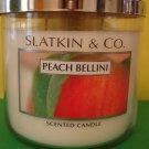 Bath and Body Works Slatkin Peach Bellini Candle 3 Wick Large