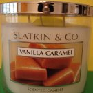 Bath & Body Works Slatkin Vanilla Caramel 65 Hour Large 3 Wick Candle